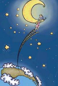 escalera a la luna